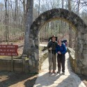 Beginning the Appalachian Trail at Amacola Falls State Park