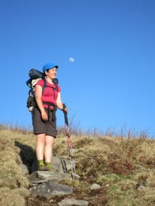 hiking with the moon